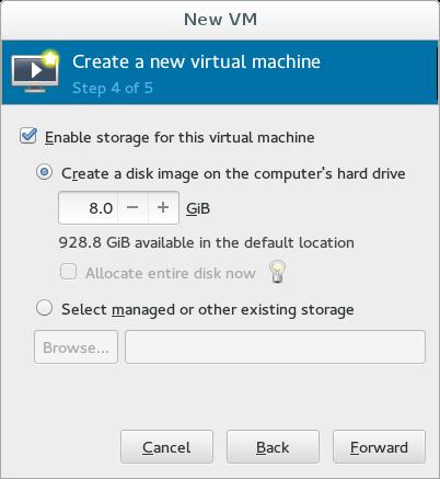 virt-manager default storage UI