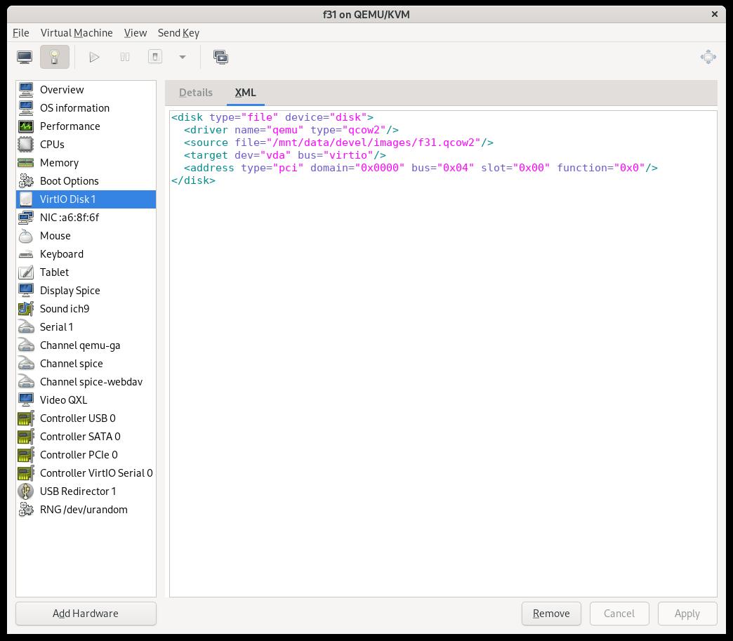Disk XML editor